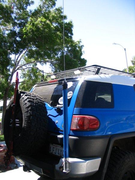 Toyota Fj40 Manafre Roll Cage Review 23696 likewise 111292 Hams Show Me Your Little Tarheel Other Screwdriver Antenna Mounts as well Toyota Hanford as well File Lightsaber  silver hilt  blue blade moreover 376345 Fj God Zilla Build 2011 Trail Teams. on toyota fj cruiser cb radio